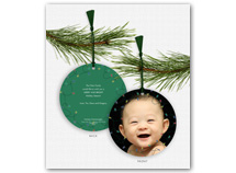 Christmas Lights Photo Ornament Holiday Cards