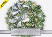 Silver Sparkle Christmas Cards